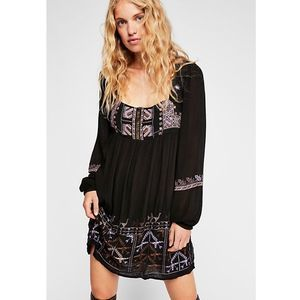 Free People Rhiannon Embroidered Babydoll Dress